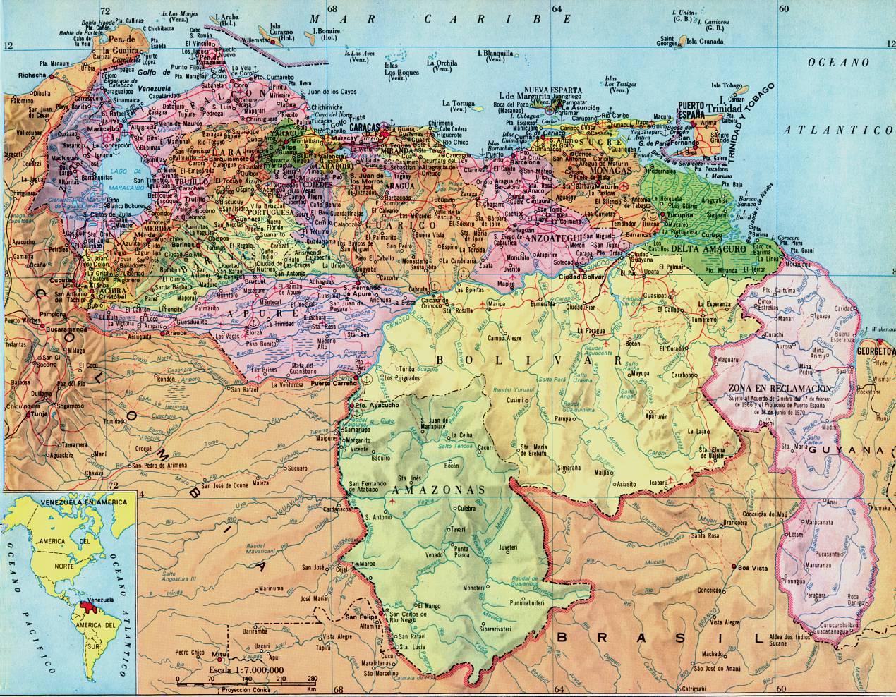Mapa Politico De Venezuela Regresar A La Lista De Mapas
